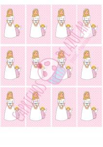 Papel de azúcar impresión niña 2016 logo