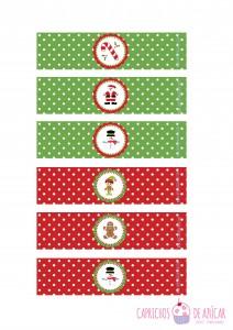 Botellas navidad montaje logo