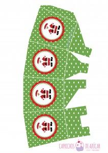 Caja para chuches verde navidad logo