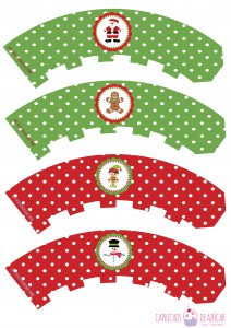 Wrappers navidad montaje logo
