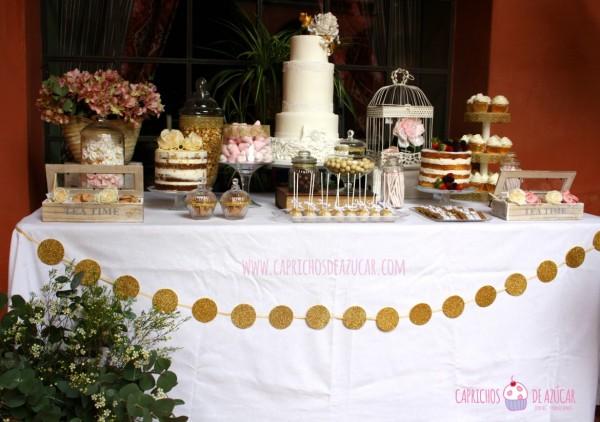 mesa dulce de boda para el palacio de